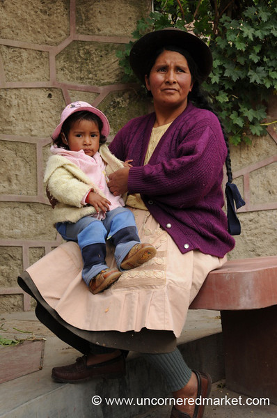 Proud Mother and Daughter - Yauli, Peru