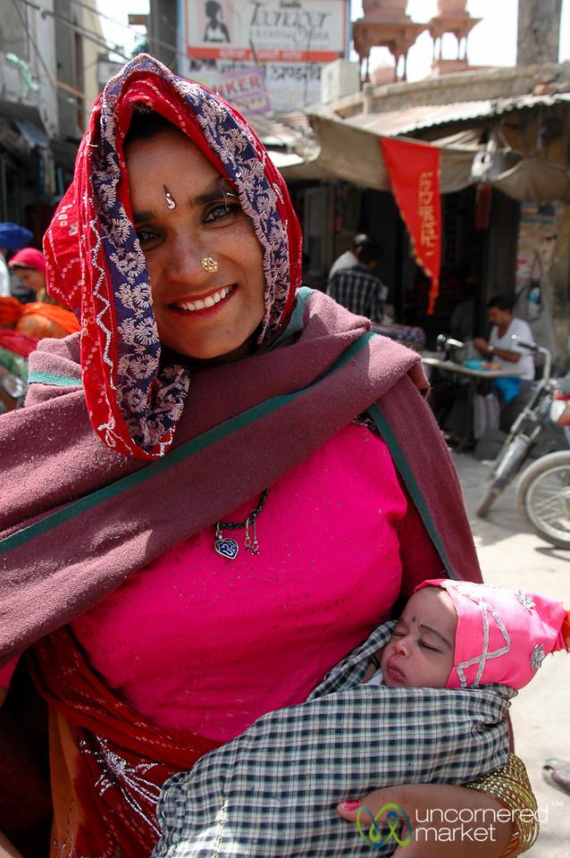 Mother with a Newborn Baby - Bikaner, India