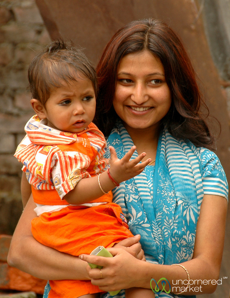 Smiling Mother - West Bengal, India
