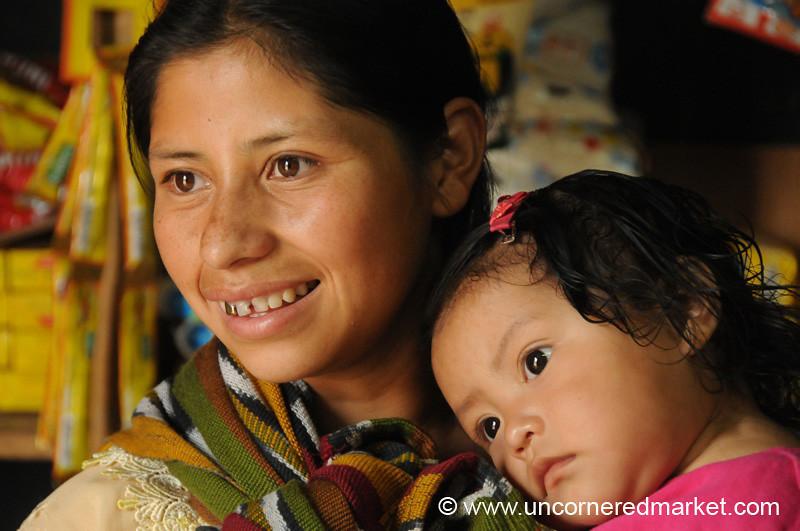 Guatemalan Mother and Baby - San Pedro Sacatepequez, Guatemala