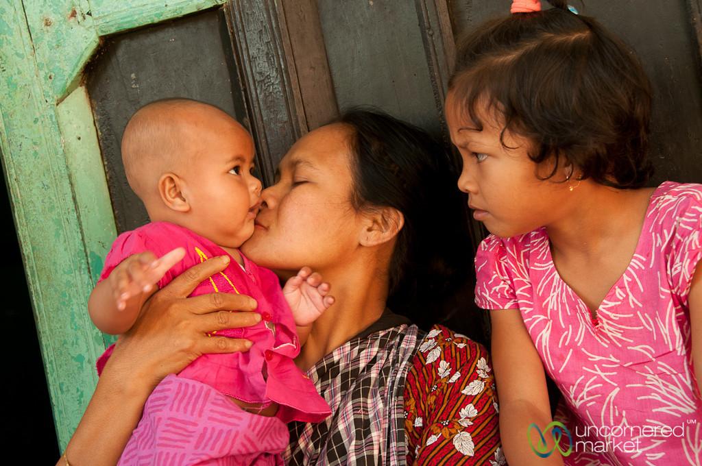 Mother and Children in Khashia Village - Outside Srimongal, Bangladesh