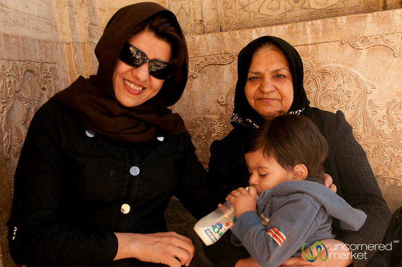 Iranian Mother, Grandma and Baby - Shiraz, Iran
