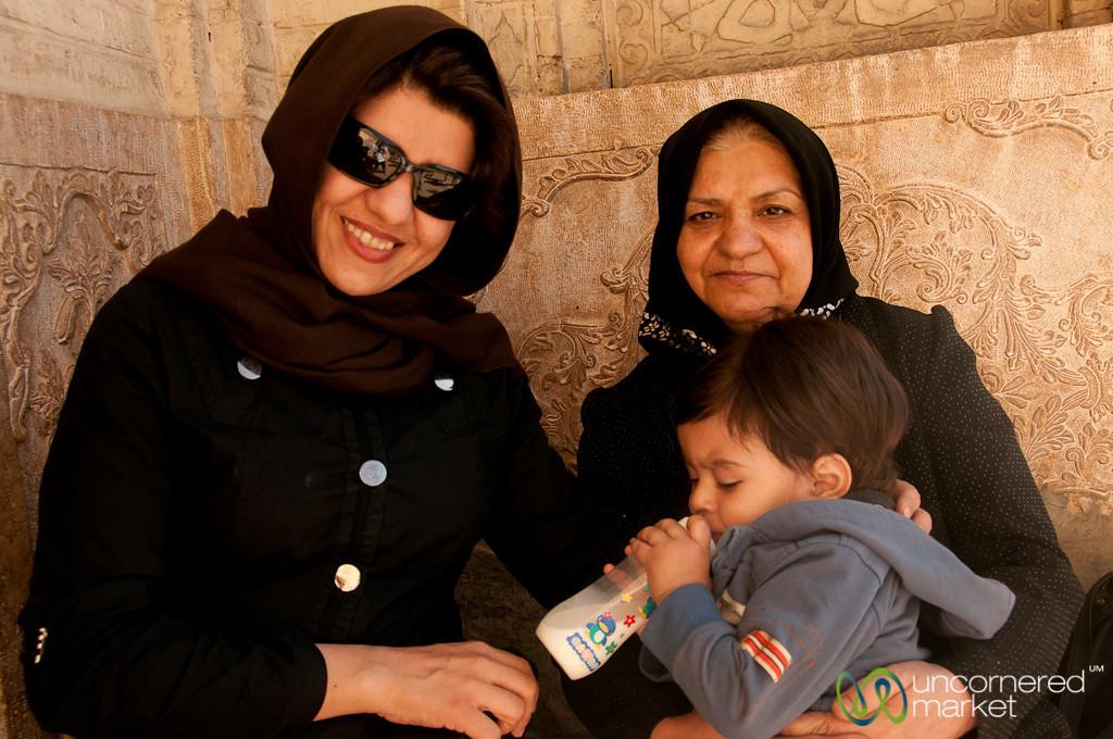 Iranian Mother, Grandma and Baby - Shiraz, Iran