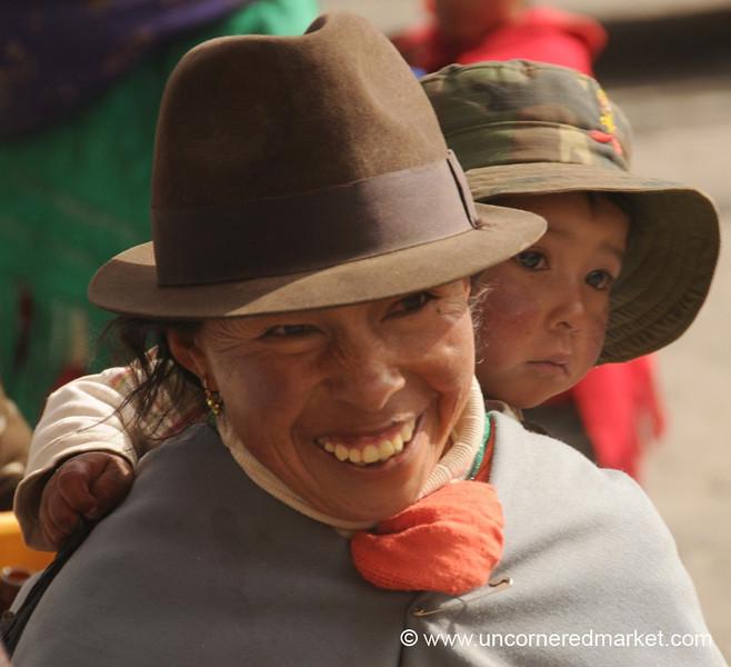 Mother and Son at Zumbahua Market, Ecuador