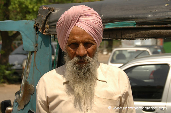 Our Rickshaw Driver in Chandigarh, India