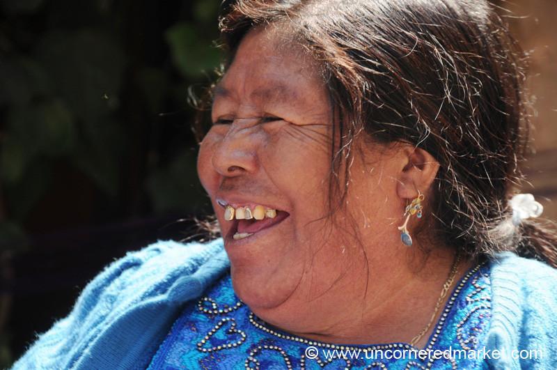 Kiva Borrower, Hearty Laugh - Paraje Xecaje, Guatemala