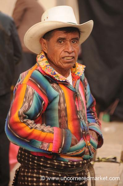 Guatemalan Indigenous Man with Traditional Dress - San Francisco El Alto, Guatemala