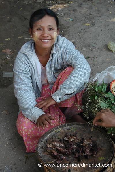 Smoked Bat Vendor - Bagan, Burma