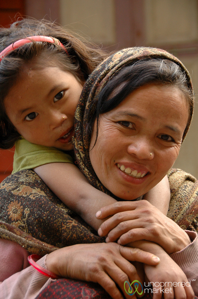 Proud Mother and Child - Annapurna Circuit, Nepal