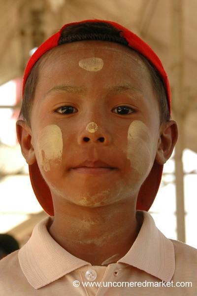 Burmese Boy with Thanaka - Toungoo, Burma