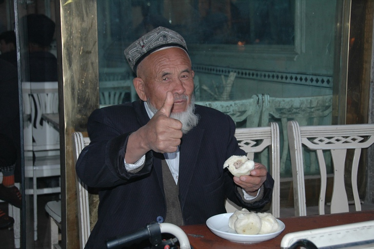 Uighur Man, Thumbs Up - Kashgar, China