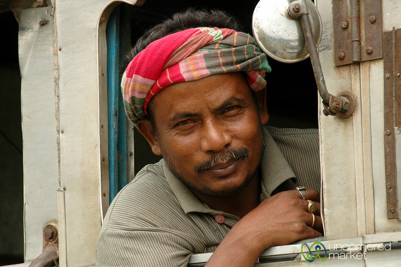Friendly Truck Driver in West Bengal, India