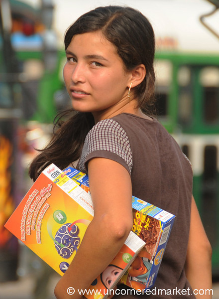 Woman Selling Cereals - Santa Ana, El Salvador