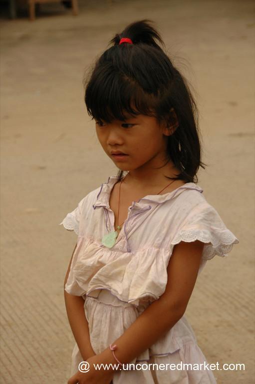 Pensive Girl - Xishuangbanna, China