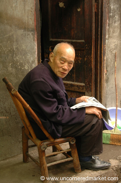 Old Chinese Man - Chengdu, China