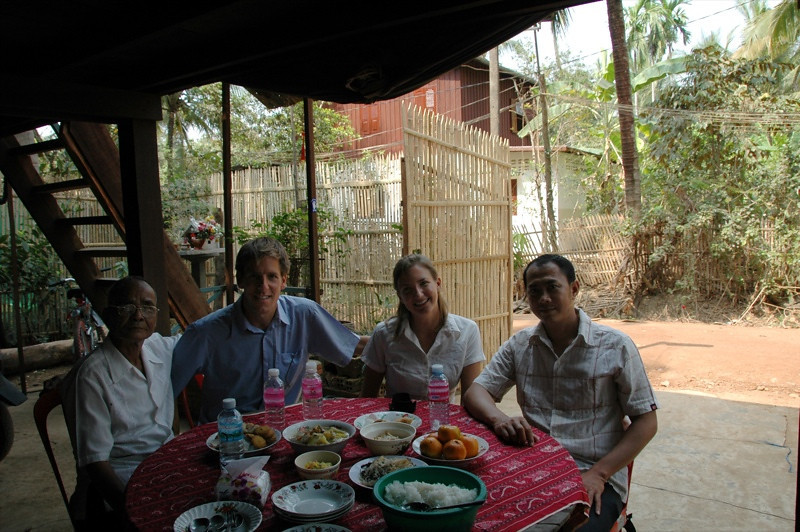 Cambodian Family and Dan - Battambang, Cambodia