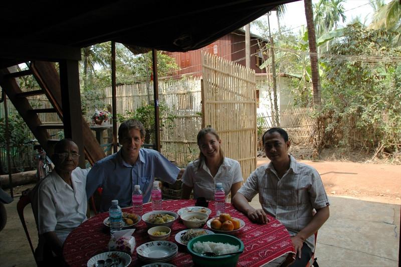 Cambodian Family and Dan - Battambang, Cambodia