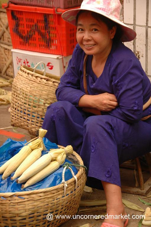 Dai Woman Vendor - Xishuangbanna, China