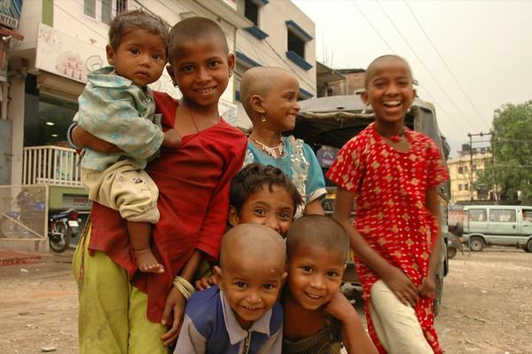 Indian Kids on Bhutan Border - West Bengal, India