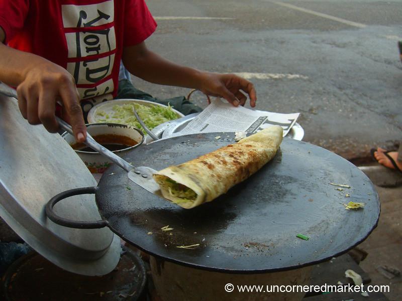 Burmese Food, Pancake - Rangoon, Burma (Yangon, Myanmar)