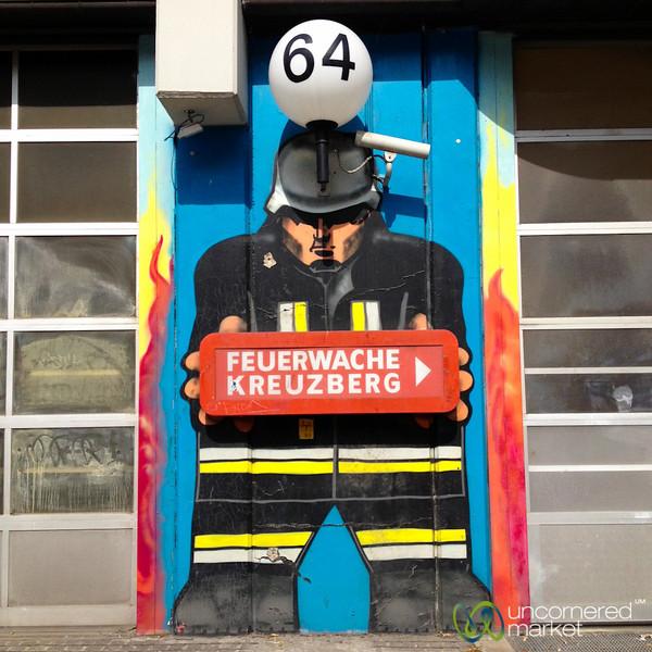 Kreuzberg Firefighter Street Art - Berlin