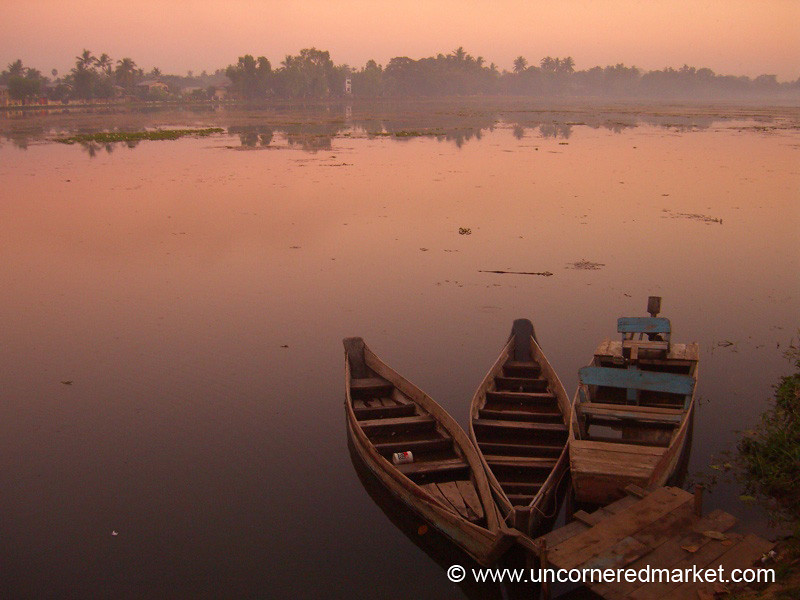Boats on the Lake - Toungoo, Burma