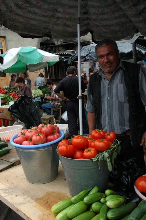 Tomatoes at Telavi Market - Kakheti, Georgia