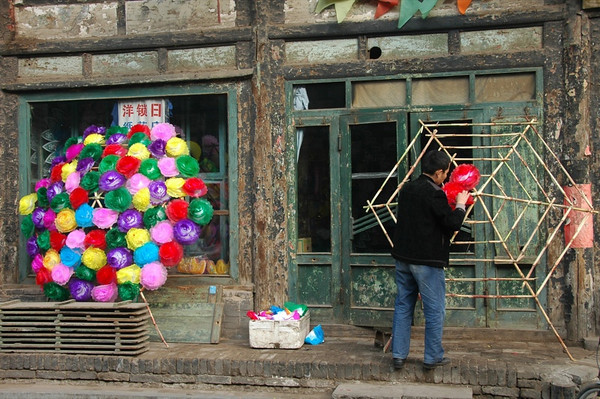Paper Flowers for a Chinese Funeral - Pingyao, China