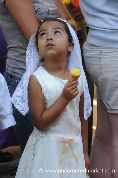 Little Guatemalan Girl Eating Ice Cream - Antigua, Guatemala