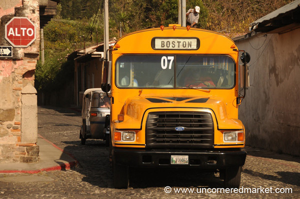 Boston Bus in Antigua, Guatemala