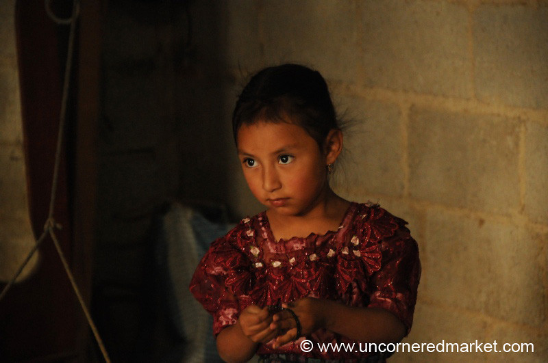Indigenous Guatemalan Girl - San Pedro Sacatepequez, Guatemala