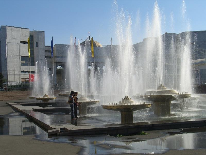 Fountains at Ala-Too Square - Bishkek, Kyrgyzstan