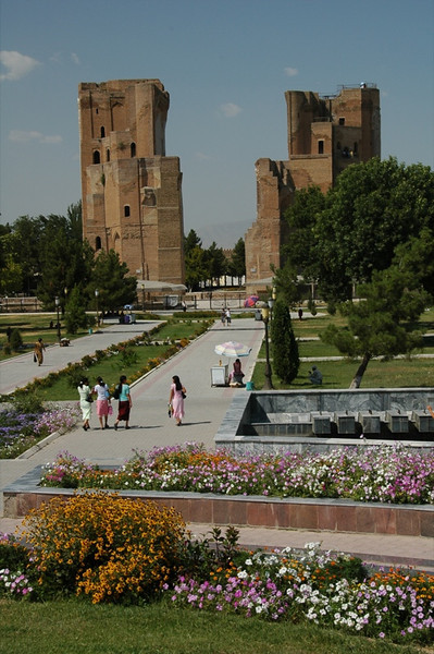 Entrance to Ak-Saray Palace (White Palace) - Shakhrisabz, Uzbekistan
