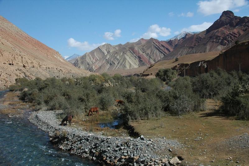 Mountainscapes and Horses - Osh to Sary Tash, Kyrgyzstan