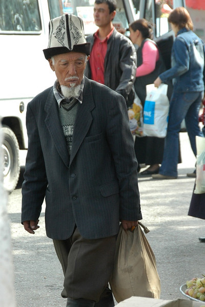 Old Kyrgyz Man Shopping - Osh, Kyrgyzstan