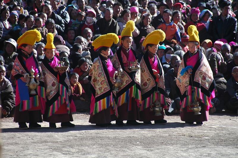 Tibetan Opera Participants - Xiahe, China
