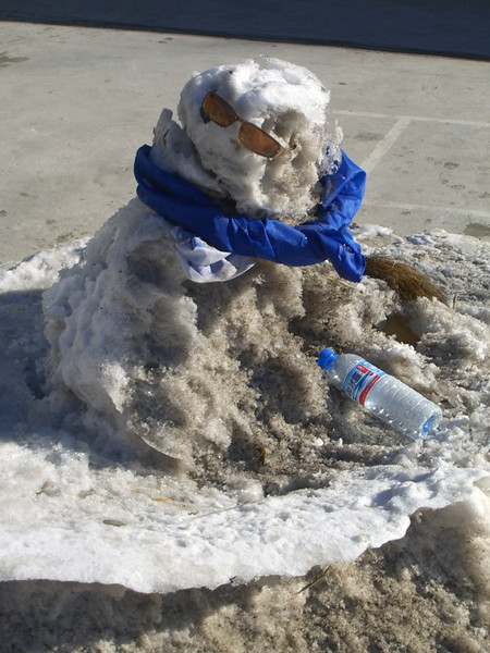 Melting Snowman - Beijing, China