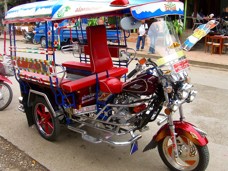 Shiny and New Tuk-Tuk - Luang Prabang, Laos