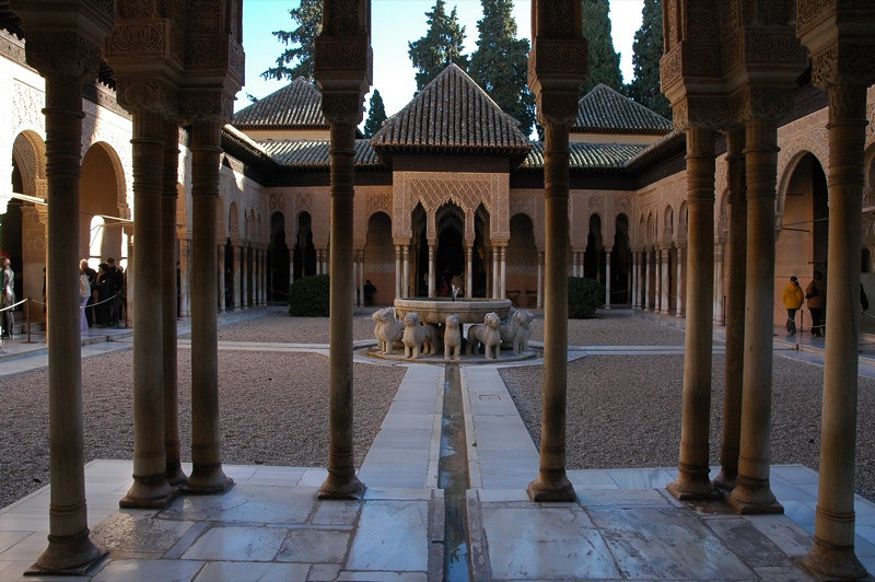 Courtyard in the Alhambra - Granada, Spain