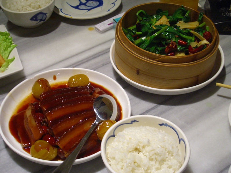 Chinese Pork, Greens and Rice - Beijing, China
