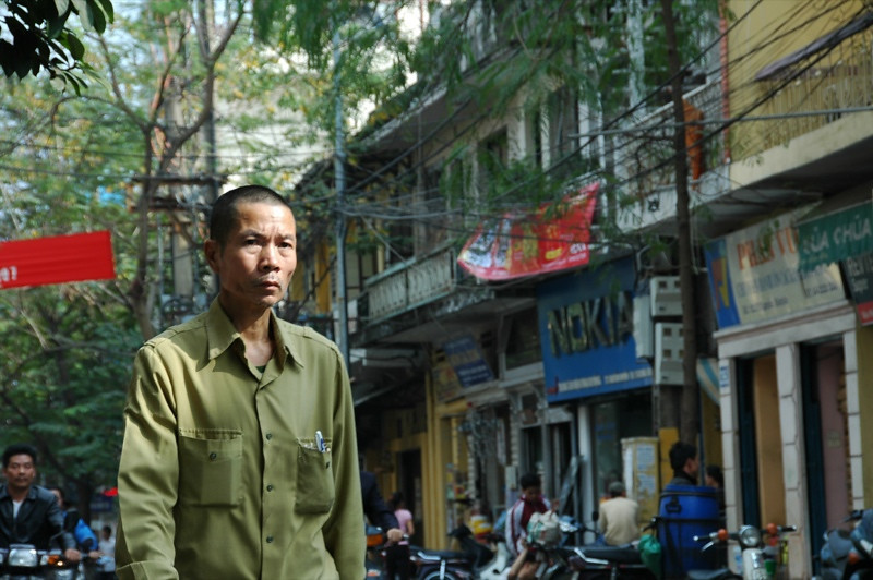 Man Walking the Streets - Hanoi, Vietnam