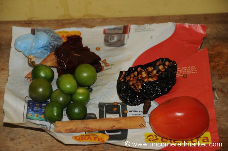 Pepian Ingredients - Xela, Guatemala