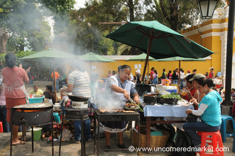 Semana Santa Street Food - Antigua, Guatemala
