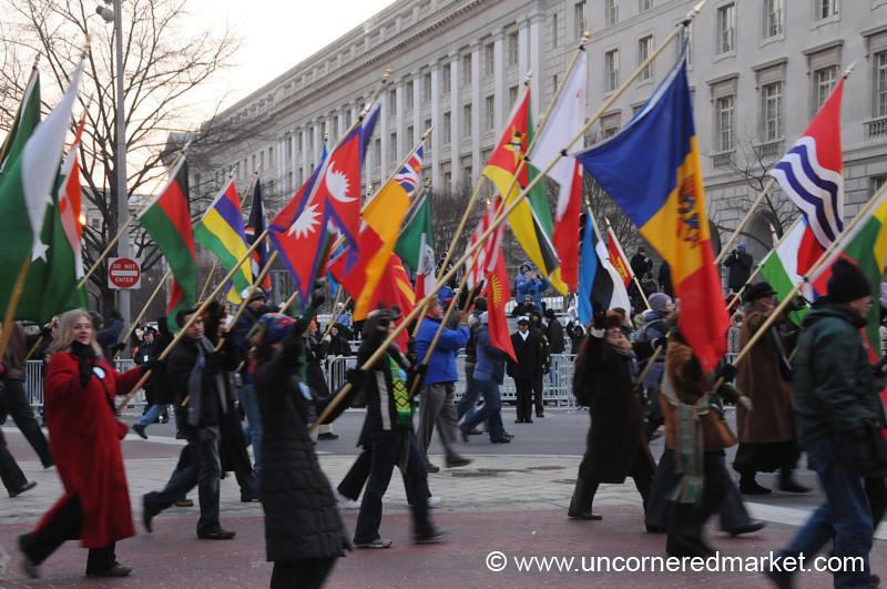 Peace Corps Waving Flags - Washington DC, USA