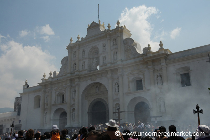 Cathedral with Incense, Good Friday - Antigua, Guatemala