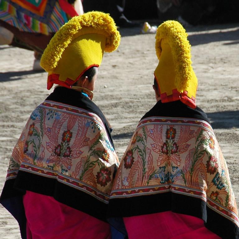 Tibetan Opera Costumes - Xiahe, China