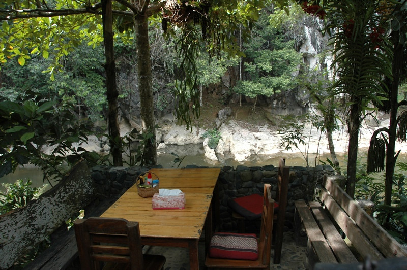 Table and Chairs at Art's Riverlodge - Khao Sok, Thailand