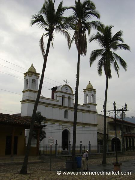 Copan's Main Square - Copan, Honduras