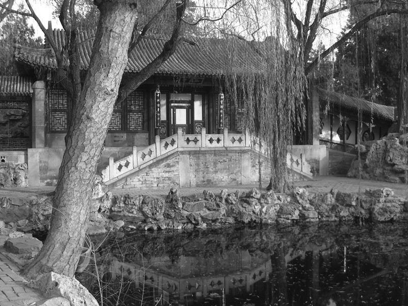 Summer Palace in Black and White - Beijing, China