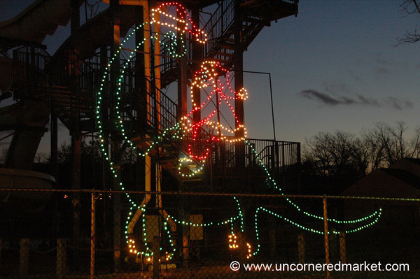 Santa on a Dinosaur - Scranton, Pennsylvania